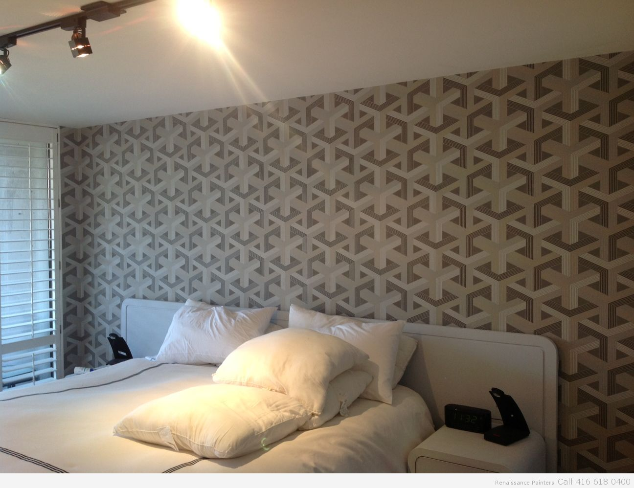 Beautiful Patterned Wallpaper Hanging